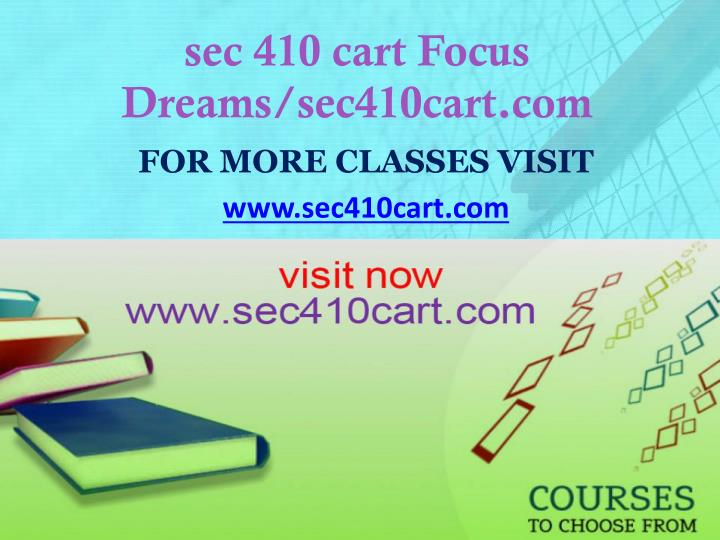 Sec 410 cart focus dreams sec410cart com