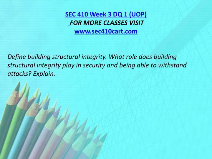 SEC 410 Week 3 DQ 1 (UOP)