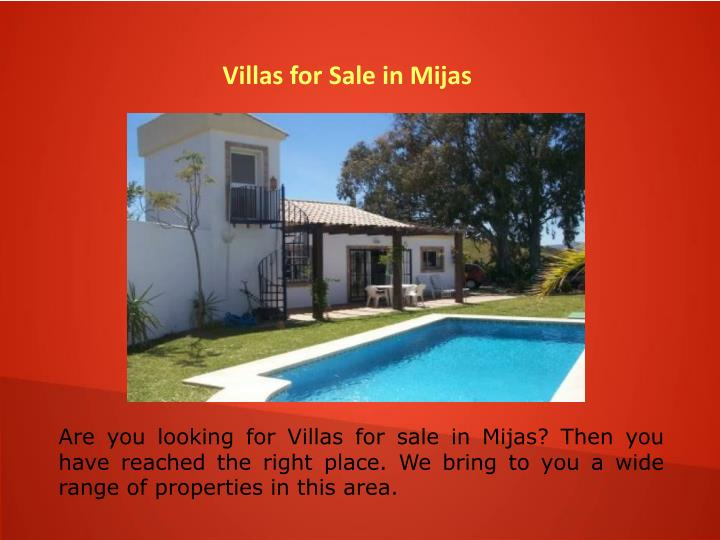 Villas for Sale in Mijas