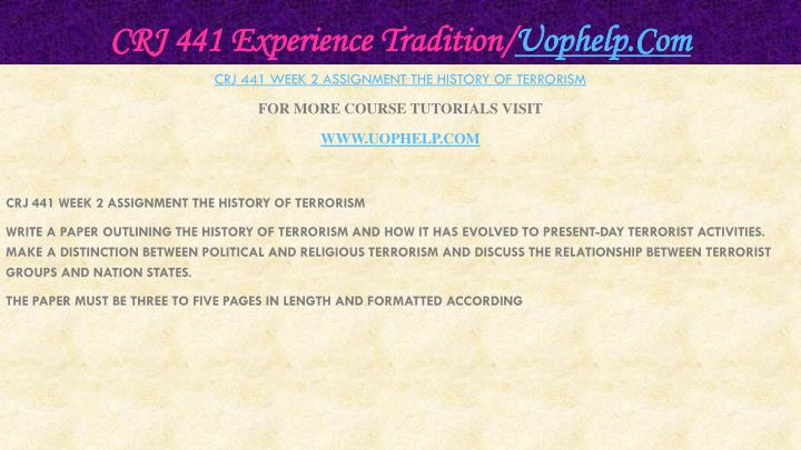Crj 441 experience tradition uophelp com1