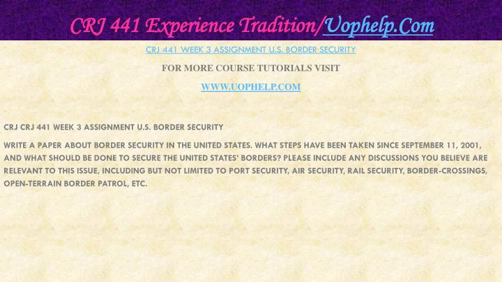 Crj 441 experience tradition uophelp com2