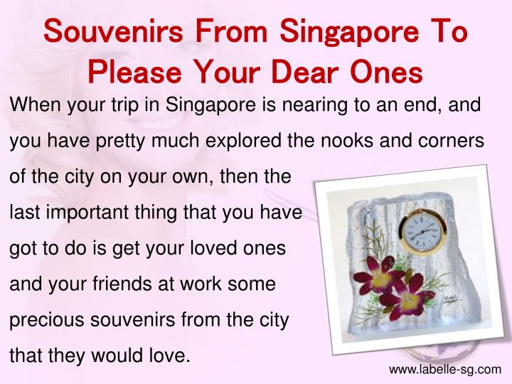 Souvenirs From Singapore To Please Your Dear Ones