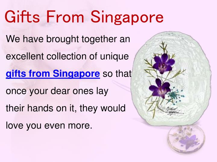 Gifts From Singapore