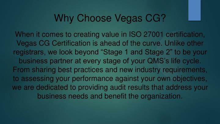 Why Choose Vegas CG?