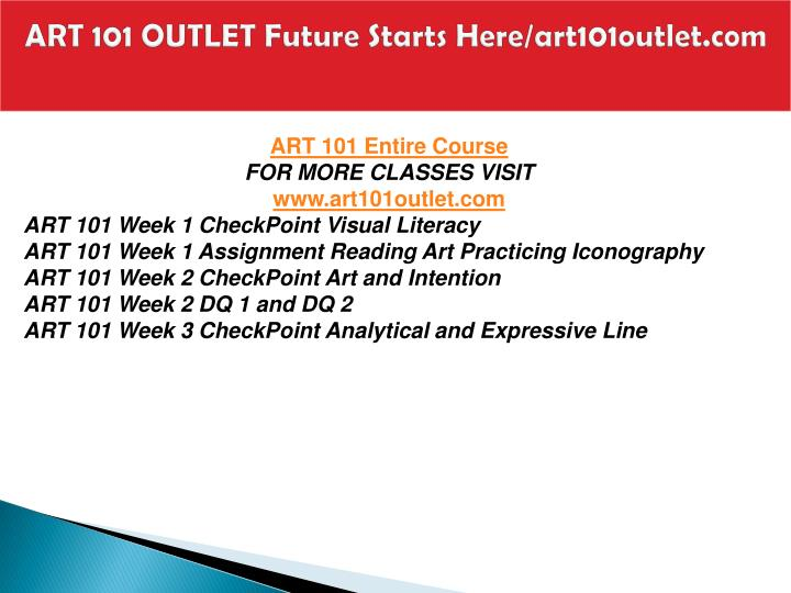 Art 101 outlet future starts here art101outlet com1