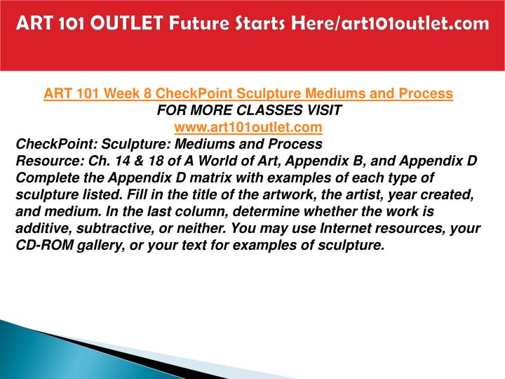 ART 101 OUTLET Future Starts Here/art101outlet.com