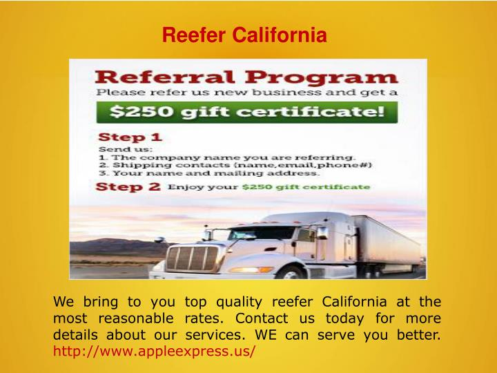 Reefer California