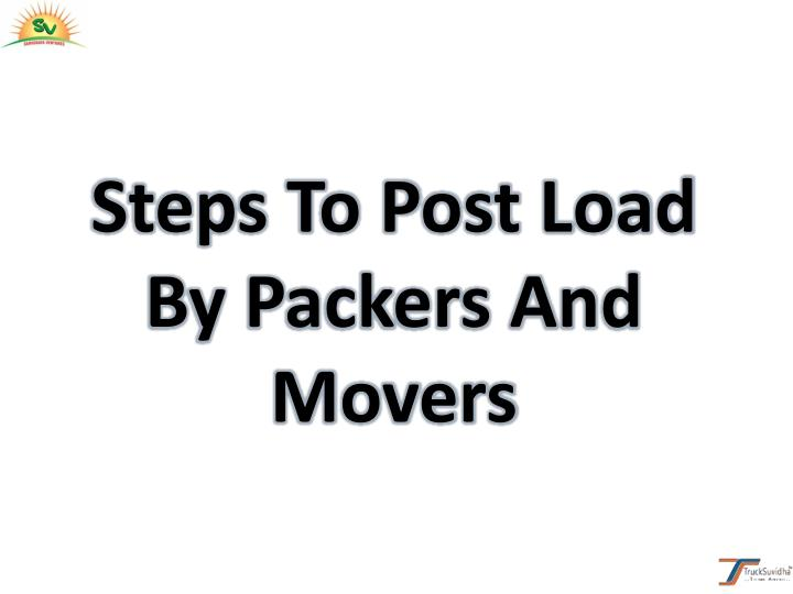 Steps To Post Load