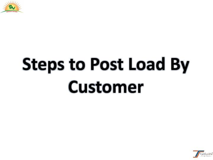Steps to Post Load By
