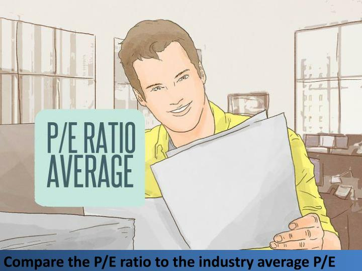 Compare the P/E ratio to the industry average P/E