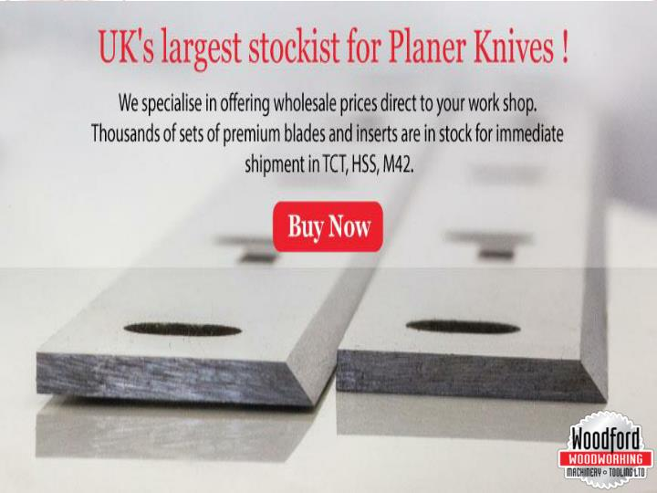 Buy online planer thicknesser blades at woodfordtooling com