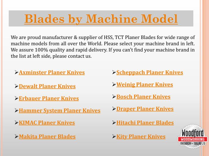 Blades by Machine Model