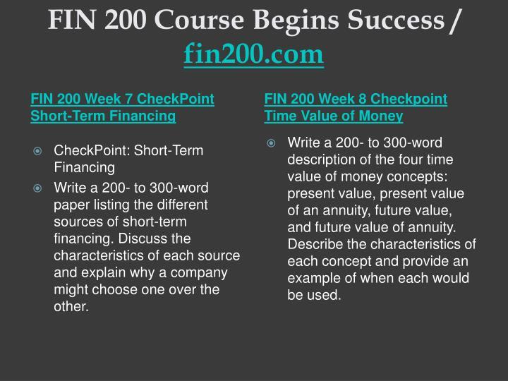 FIN 200 Course