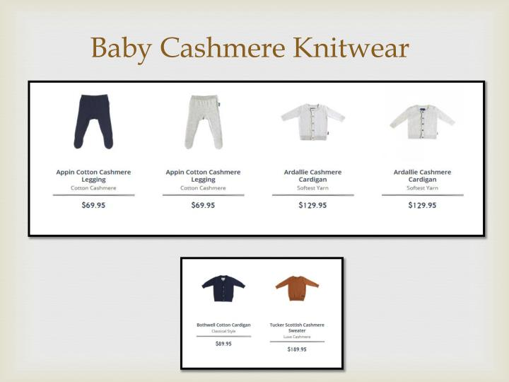 Baby cashmere knitwear
