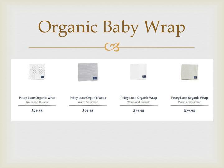 Organic Baby Wrap