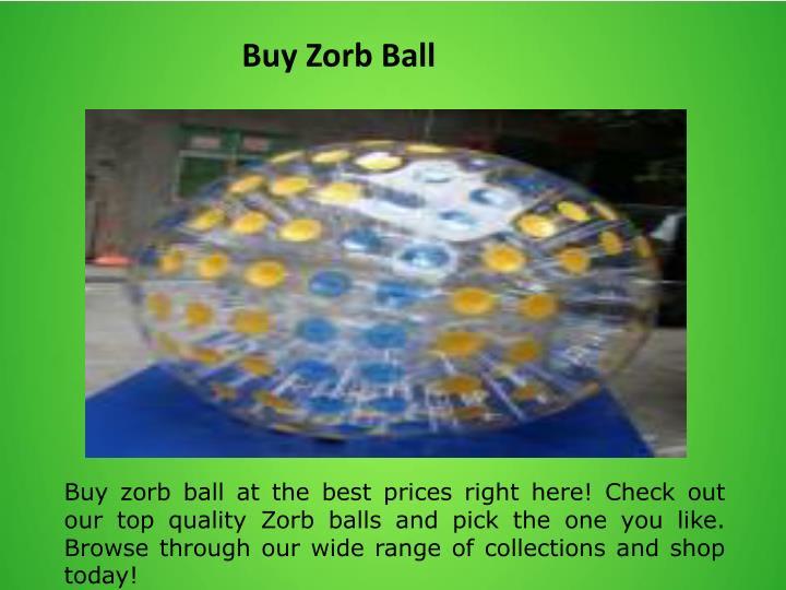 Buy Zorb Ball