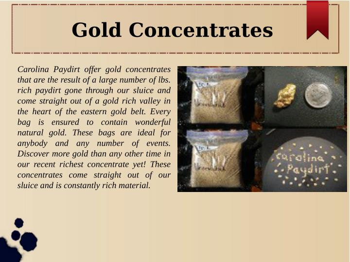 Gold Concentrates