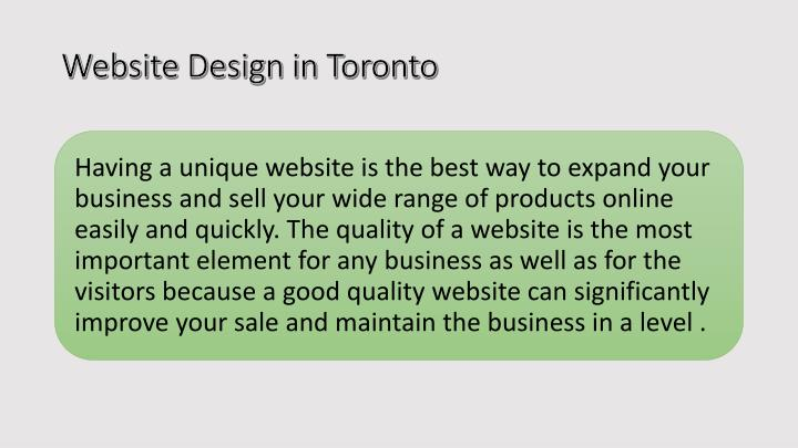 Website design in toronto