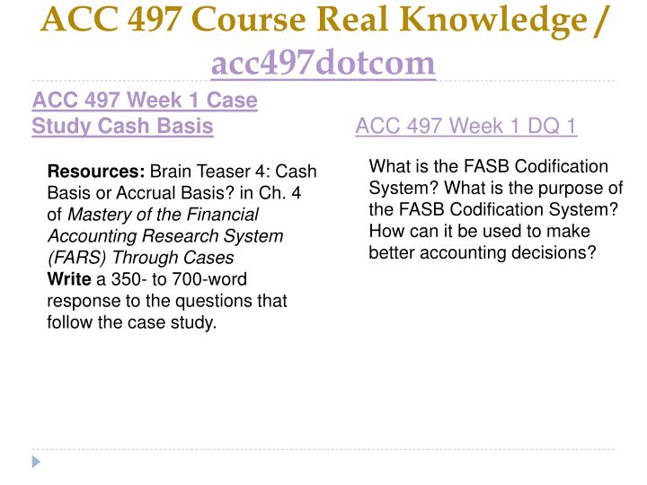 Acc 497 course real knowledge acc497dotcom2