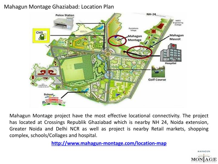 Mahagun Montage Ghaziabad: Location Plan