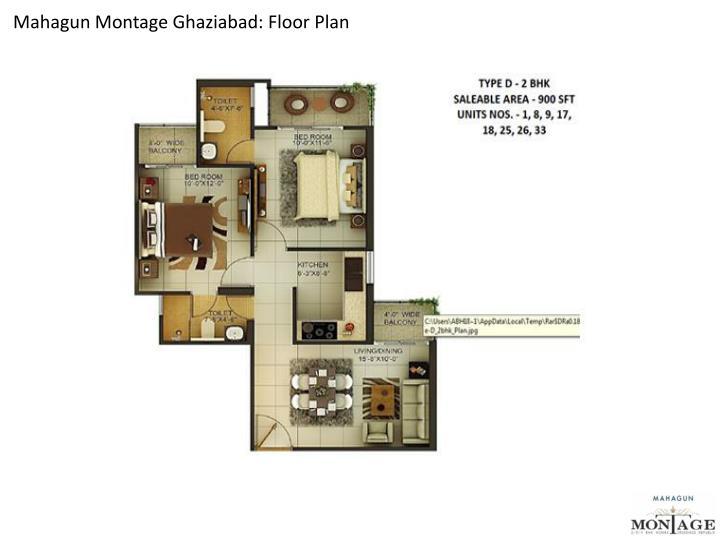 Mahagun Montage Ghaziabad: Floor Plan