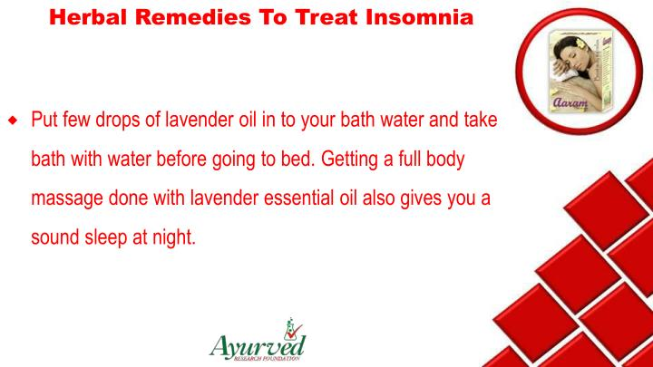 Herbal Remedies To Treat Insomnia