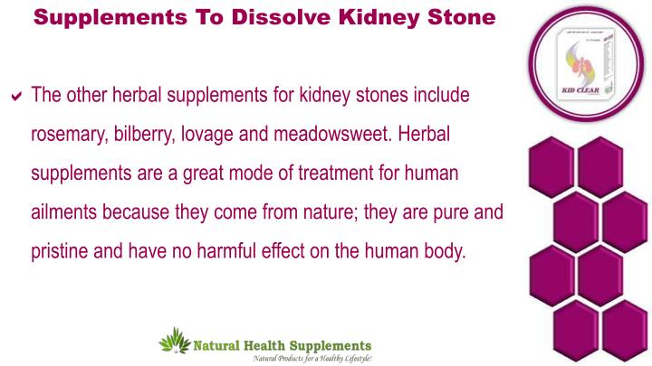 Supplements To Dissolve Kidney Stone