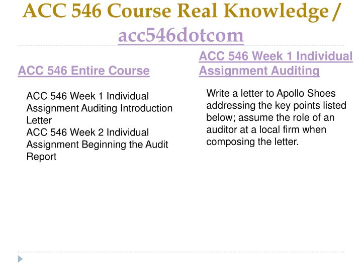 Acc 546 course real knowledge acc546dotcom1