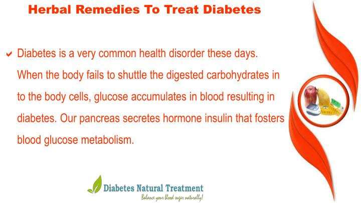 Herbal Remedies To Treat Diabetes