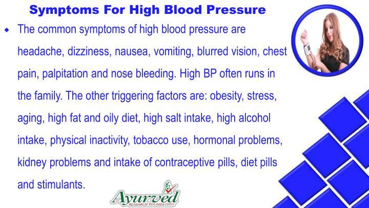 Symptoms For