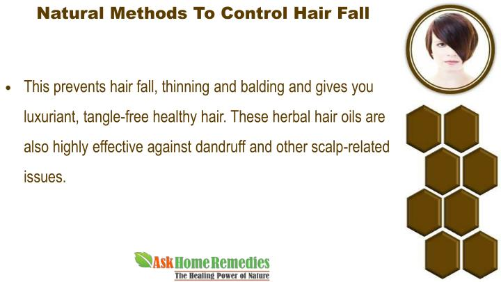 Natural Methods To Control Hair Fall