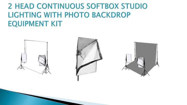 2 HEAD CONTINUOUS SOFTBOX STUDIO LIGHTING WITH PHOTO BACKDROP EQUIPMENT KIT