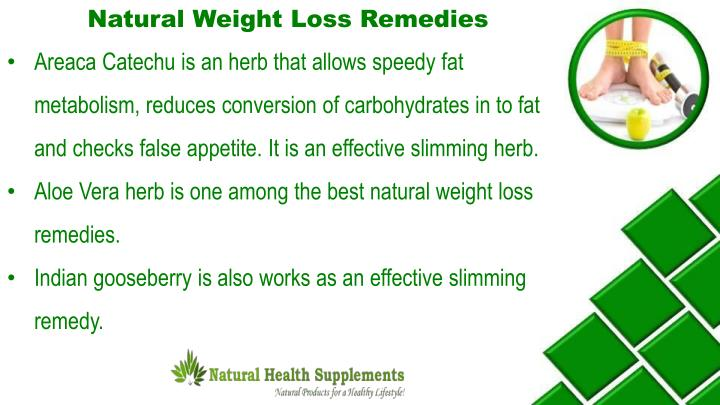 Natural Weight Loss Remedies