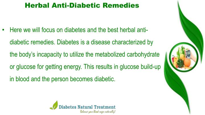 Herbal Anti-Diabetic Remedies