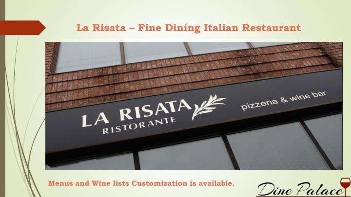 La Risata – Fine Dining Italian Restaurant