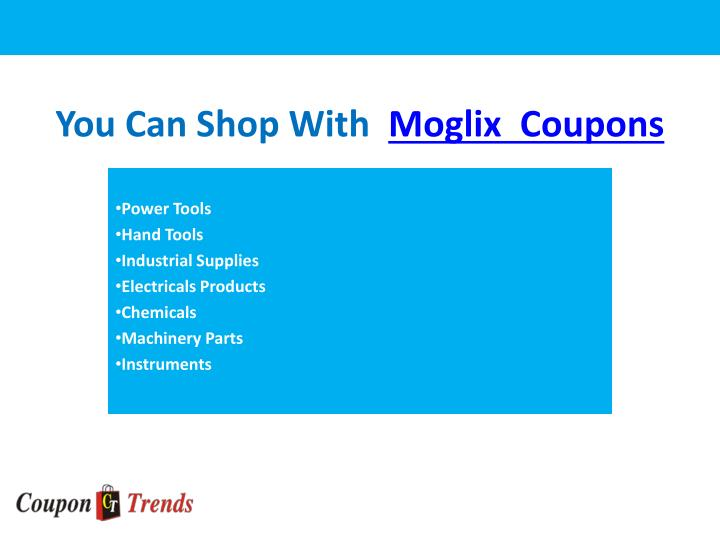 You can shop with moglix coupons