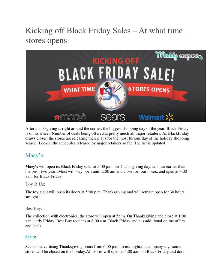 Kicking off Black Friday Sales
