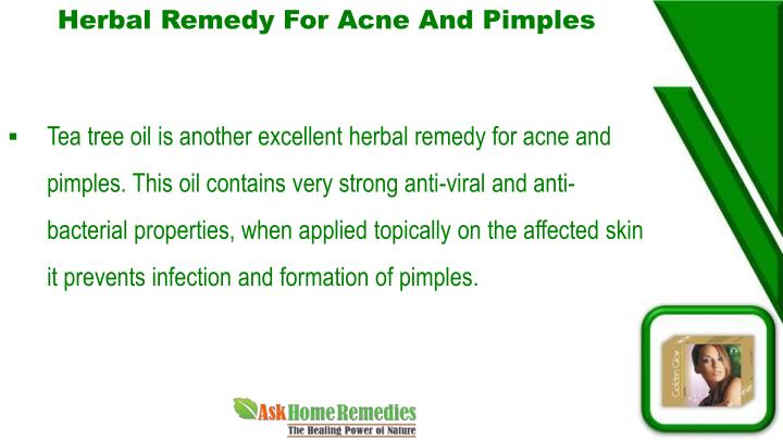 Herbal Remedy For Acne And Pimples