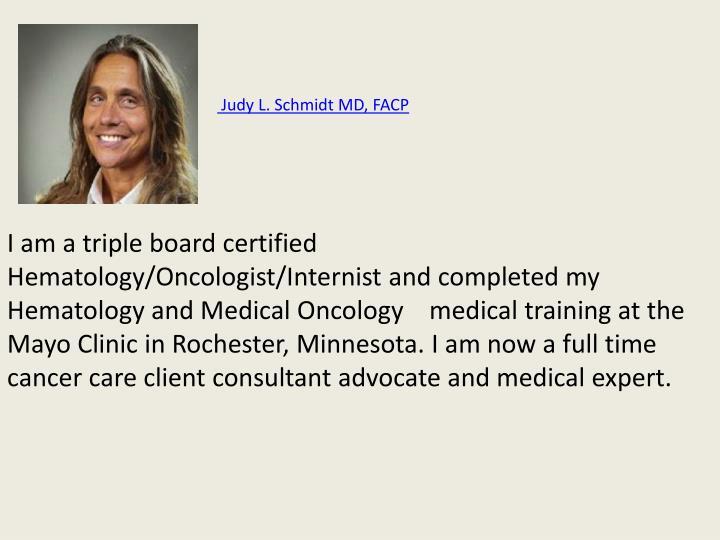 Judy L. Schmidt MD, FACP