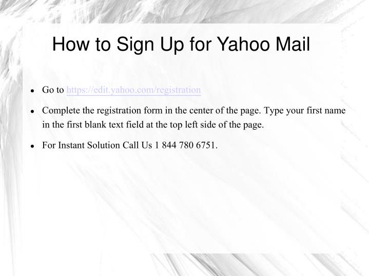 How to sign up for yahoo mail