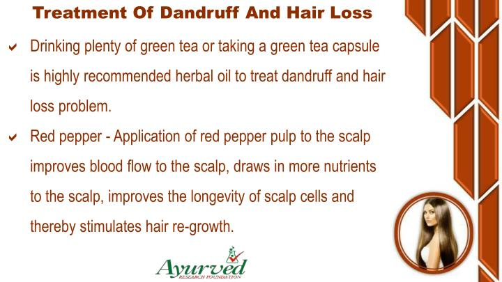 Treatment Of Dandruff And Hair Loss
