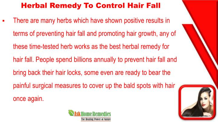 Herbal Remedy To Control Hair Fall