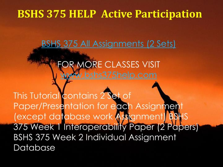 BSHS 375 HELP