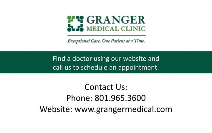 Find a doctor using our website and