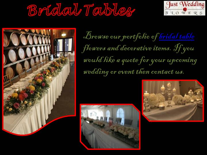 Bridal Tables