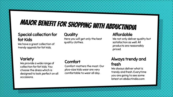 Major benefit for shopping with abductindia