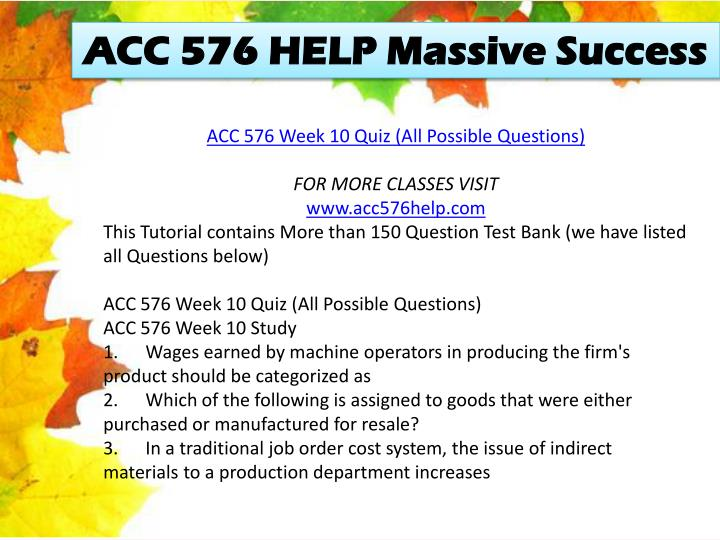 ACC 576 HELP Massive Success