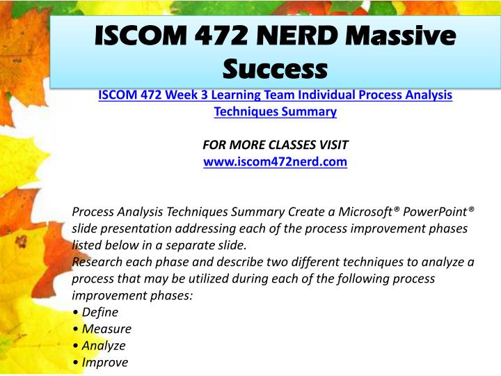 ISCOM 472 NERD Massive Success