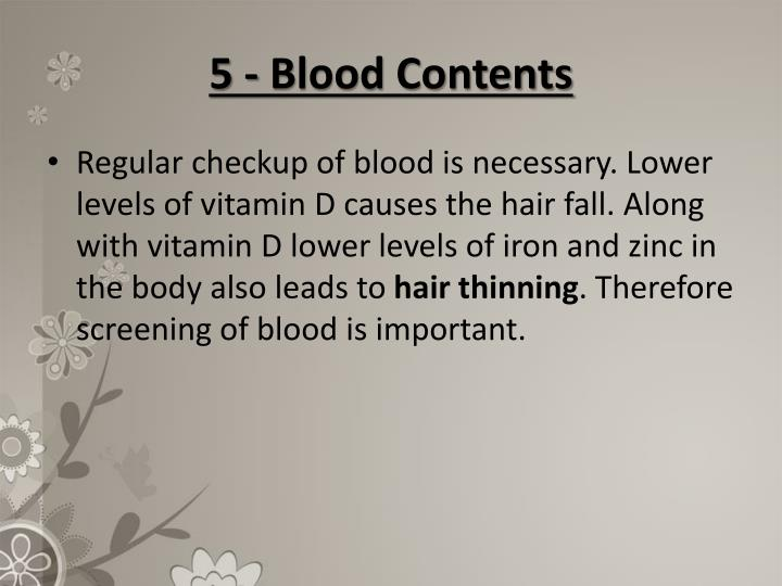 5 - Blood Contents