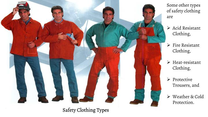 Some other types of safety clothing are